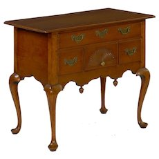 American Queen Anne Lowboy Dressing Table, Massachusetts c. 1740-60