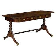 English Regency Rosewood Writing Table Desk circa 1820