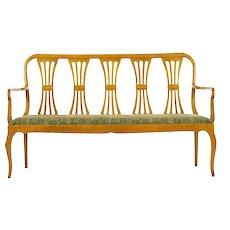 20th Century Biedermeier Style Antique Hallway Bench Sofa