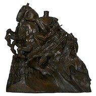 "Art Deco Bronze Sculpture of ""Four Horsemen of the Apocalypse"" by Lee Lawrie"