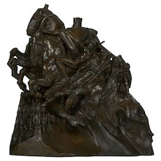 "Art Deco Bronze Sculpture of ""Four Horsemen of the Apocalypse"" by Lee Lawrie"