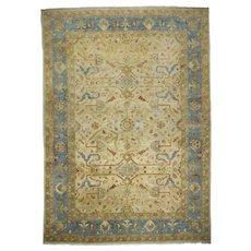 Vintage Room Size Oushak Style Turkish Rug Carpet, late 20th century