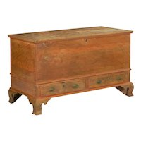 American Chippendale Red Faux-Grain Painted Blanket Chest of Drawers circa 1800