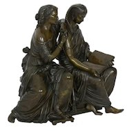 """The Sibylline Prophetess"" French Bronze Sculpture by Duchoiselle, 19th Century"