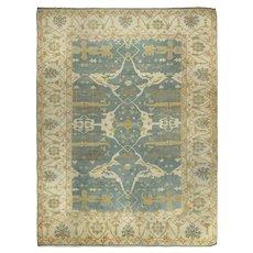 Vintage Turkish Oushak Style Room Size Rug, 12.5' x 14'
