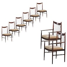 Set of Eight Danish Modern Rosewood Dining Chairs by Arne Vodder for Sibast Møbler