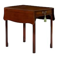 English Chippendale Mahogany Pembroke Accent Table circa 1780