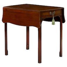 English Chippendale Mahogany Pembroke Accent Table circa 1780