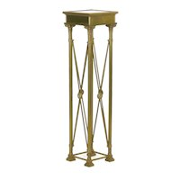 Vintage French Directoire Style Brass Pedestal Accent Table in Jansen Taste