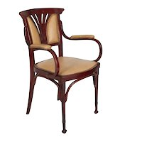 Vienna Secessionist Bentwood Arm Chair by Jacob & Josef Kohn