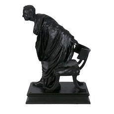 """Cicero's Accusation of Catilina"" Italian Bronze Sculpture by Vincenzo Alfano"