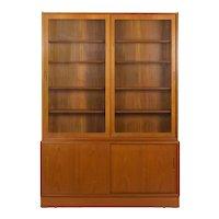 Vintage Danish Mid Century Modern Teak Bookcase Bookshelf Cabinet by Poul Hundevad