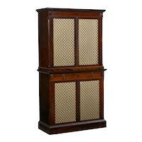 English Rosewood Antique Humidor Cabinet by Mellier & Co, London, circa 1880