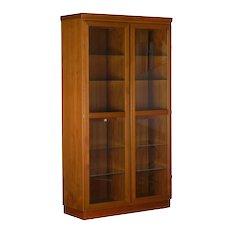 Danish Mid-Century Modern Teak Display Cabinet Bookshelf by Skovby
