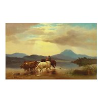 """""""Homeward Bound"""" '1863' American Landscape Painting by Albert Fitch Bellows"""