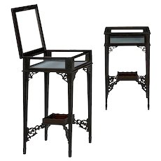 English George III Gothic Style Accent Side Tables Vitrines circa 1890 - A Pair