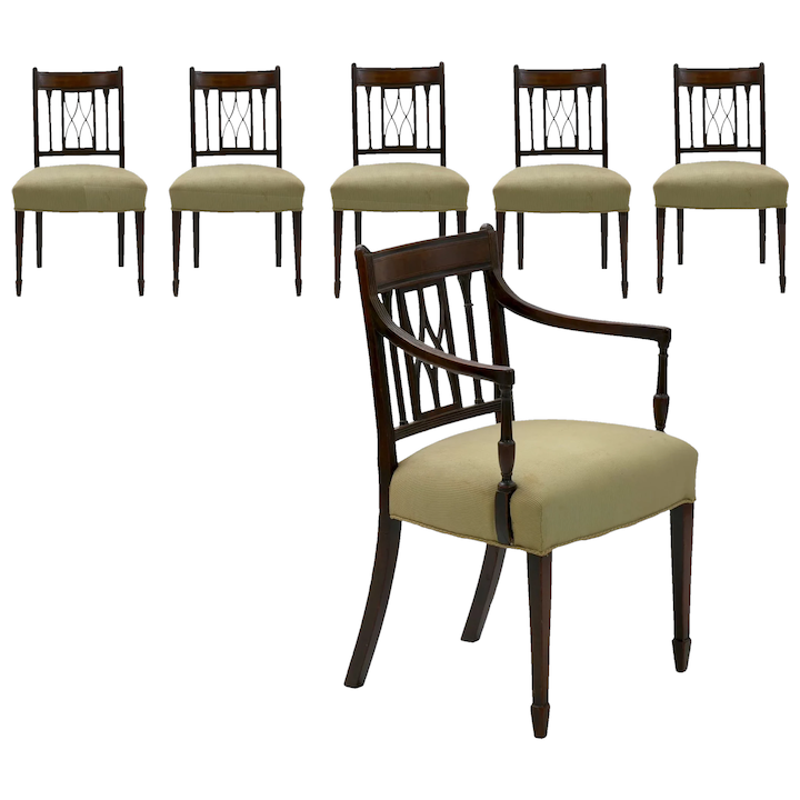 Carved Mahogany Antique Dining Chairs