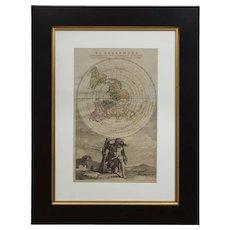 "Cassini World Map ""Planisphere Representant Toute L'Etendue du Monde"" circa 1792"