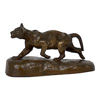 """""""Lion Cub"""" French Antique Bronze Sculpture by Isidore Bonheur and Peyrol"""