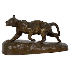 """Lion Cub"" French Antique Bronze Sculpture by Isidore Bonheur and Peyrol"