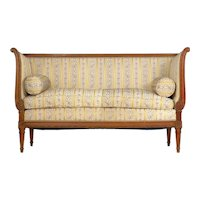 French Louis XVI Style Provincial Antique Loveseat Sofa Canapé, 19th Century