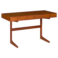Vintage Danish Modern Teak Writing Table Desk by Georg Petersens