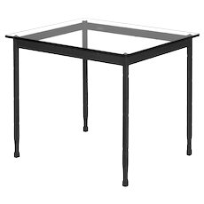 Modern Wrought Iron Accent Side Table by Charleston Forge
