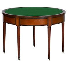 19th Century Neoclassical Antique Fruitwood Card Games Table w/ Triple Top