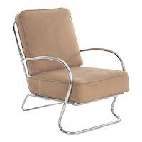 Art Deco Chrome Arm Lounge Chair by KEM Weber for Lloyd circa 1940s