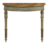 19th Century Italian Neoclassical Antique Painted Console Pier Table