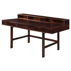 Danish Modern Rosewood Writing Desk by Peter Lovig Nielsen circa 1972