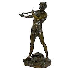 """Large French Bronze Sculpture """"L'Improvisateur"""" by Felix Charpentier"""