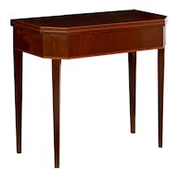 Baltic Neoclassical Mahogany Antique Games Console Table, 19th Century