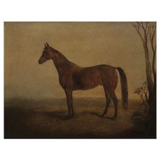 """Rare """"Knight of St. George"""" Equestrian Painting by Edward Troye"""