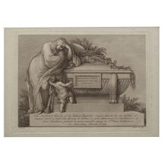 Engraved Admission Ticket for Funeral of Sir Joshua Reynolds circa 1792