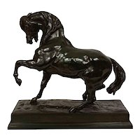 """French Bronze Sculpture """"Cheval Turc no. 2"""" after Antoine-Louis Barye"""