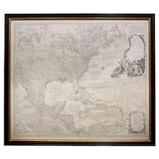 """Rare Engraved """"Map of North America"""" by Emanuel Bowen and John Gibson published 1776"""