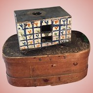Rare and early Ceramic Miniature Stove from ca. 1800