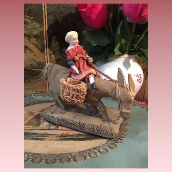Lovely Little Parian Doll on Donkey