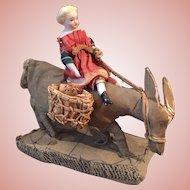 Lovely Little Parian Doll on Donkey