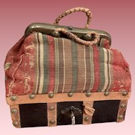 Original French Miniature Sac du Voyage For Bebes