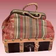 Original French Miniature Sac du Voyage For Bebes