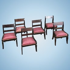 Set of 6 Early Dollhouse Chairs