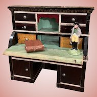 Early Dollhouse Desk with Accessories