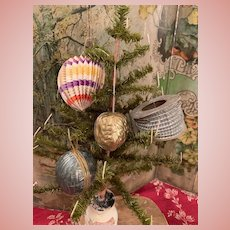 Lot of Dresden Christmas Ornaments