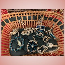 Lovely Lot of Gablonz Christmas Ornaments