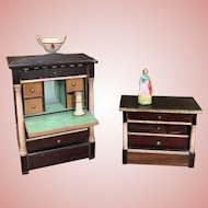 Early Dollhouse Furniture Pieces