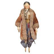 Wonderful Early Grödner Wooden Doll