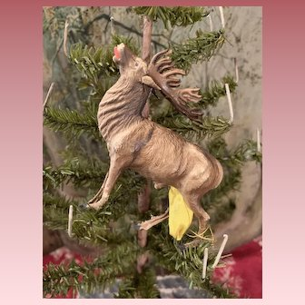Original Dresden Reindeer Christmas Ornament