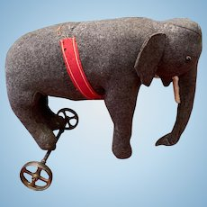 "Steiff Elephant Wheels "" Attic Found"""